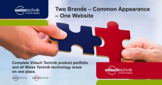 Two Brands. Common Appearance. One Website. – Weiss Technik, Votsch Technik