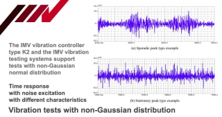 Vibration tests with non-Gaussian distribution