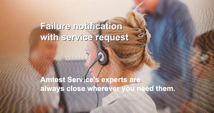 Failure notification, service request